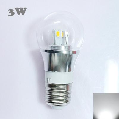 Mini LED Ball Bulb  6000K 300lm 85-265V E27 3W  in Silver Fiinish