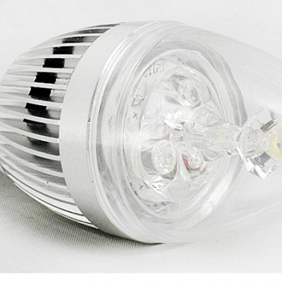 360° 180lm 85-265V E14 3W Silver Candle Bulb