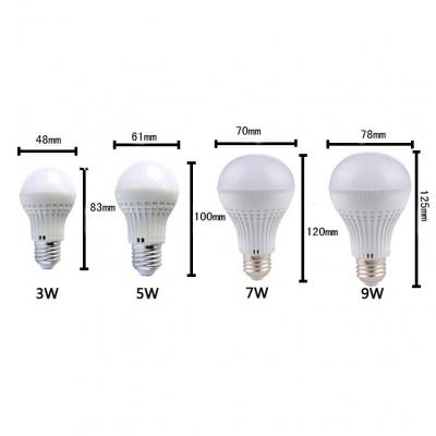 E27 220V 5W 180° Warm White Lighted LED Globe Bulb