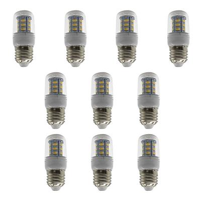 Image of 100lm 3500K 10Pcs E27 220V 24-Leds Corn Bulb