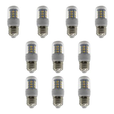 Image of 100lm 6000K 10Pcs E27 220V 24-Leds Corn Bulb