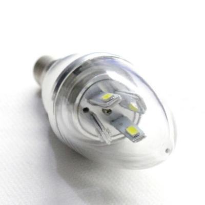 10Pcs  Cool  White E14-5730 AC85-265V 5W LED Candle Bulb