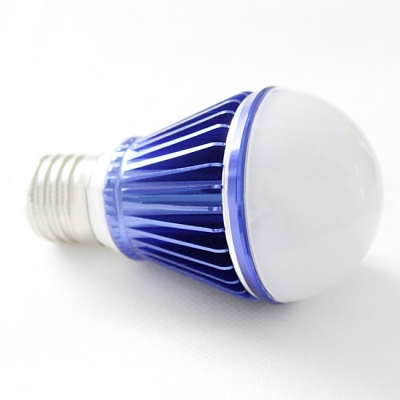 10Pcs Dark Blue 300lm E27 5W  Warm White Light LED Bulb