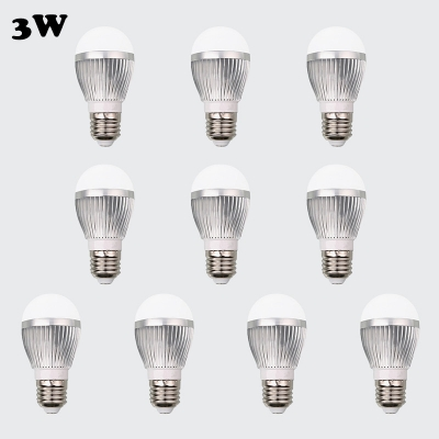 10Pcs E27 3W Warm White Light  6Led-5730SMD