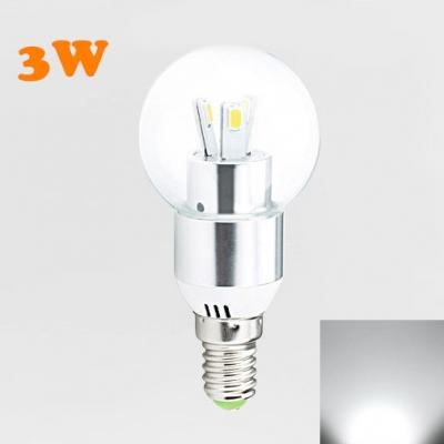 120 3Leds E14 LED Globe Bulb 3W Cool White HL388473 фото
