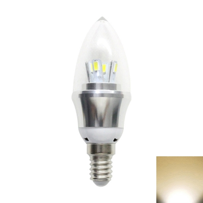 5W Warm  White E14-5730 AC85-265V LED Candle Bulb