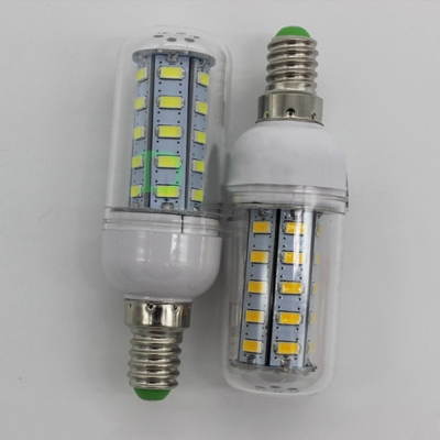 E14 220V 10Pcs  100lm 7W 3500K 24-Leds Corn Bulb