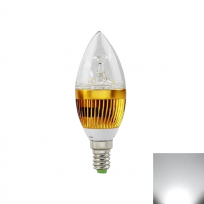 Golden LED Candle Bulb 6000K 180lm 85-265V E14 3W