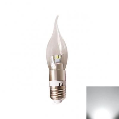 LED Candle Bulb 3W Silver E27   360° Cool White