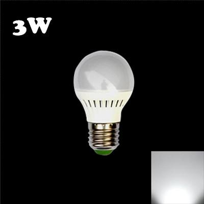 Plastic 3W E27 Cool White Light LED Globe Bulb