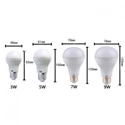 180° 220V E27 3W  Cool White Lighted LED Globe Bulb