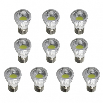 Cool White 10Pcs 220V E27 3W LED COB Par