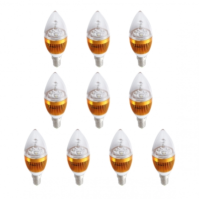 10Pcs  E27 3W 180°240lm 6LED-5730SMD Warm White