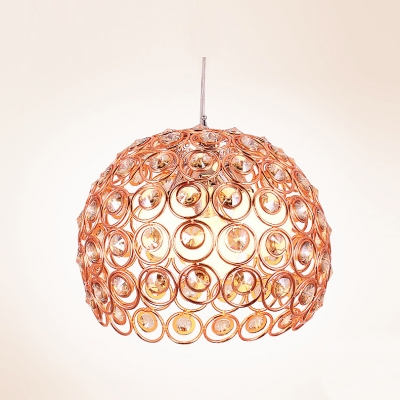 Add Dazzling Look with Romantic Beautiful Crystal and Aluminum Pendant Light Fixture