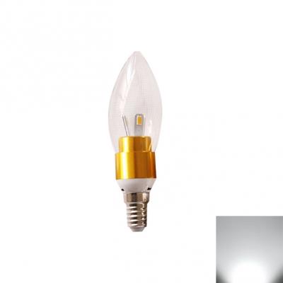 Cool White LED  E14 Candle Bulb 3W Golden 360°