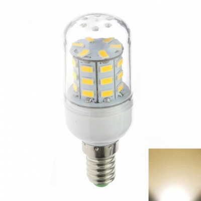 220V 30LED E12 3W Yellow Light Clear Shade LED Corn Bulb