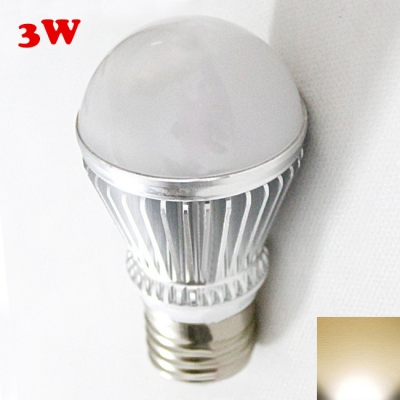 Silver 300lm E27 3W  Warm White Light