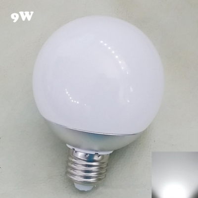 6000K  220V E27  9W Chrome LED Globe Bulb