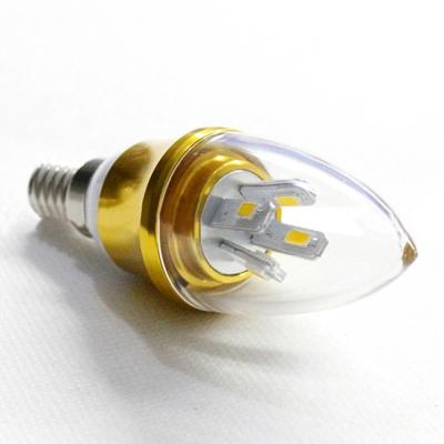 Cool  White E14-5730 AC85-265V 5W LED Candle Bulb