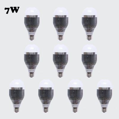10Pcs E27 7W Cool White Light  6Led-5730SMD