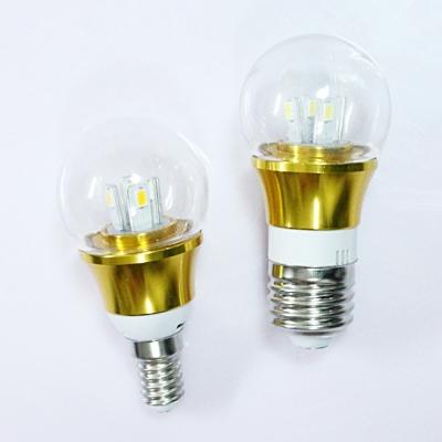 10Pcs 6000K Gold Fiinish 4W 85-265V E27 Mini LED Ball Bulb