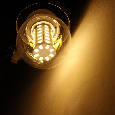 56LED-5730 220V E27 6W 2700K  Clear LED Globe Bulb