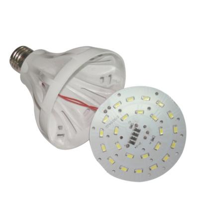 E27 1W Plastic LED Globe Bulb 240lm 6000K
