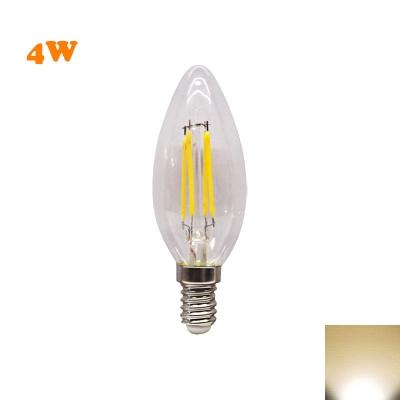 E14 4W LED Edison Bulb Candle Yellow Light