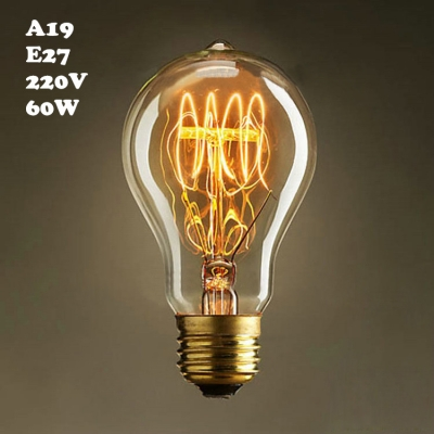 Globe Edison Bulb A19 220V  E27 60W