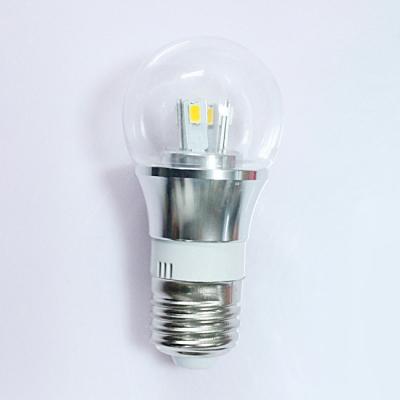 Mini LED Ball Bulb  10Pcs 6000K 300lm 220V E27 3W  in Silver Fiinish