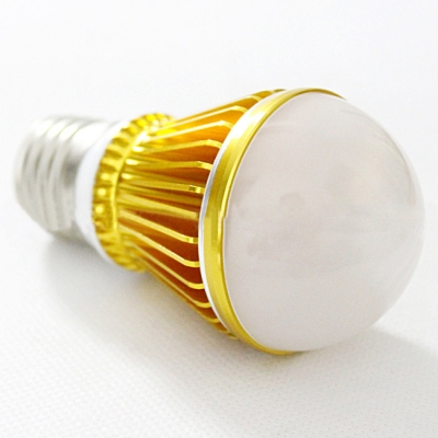300lm Golden  E27 3W  Cool White Light