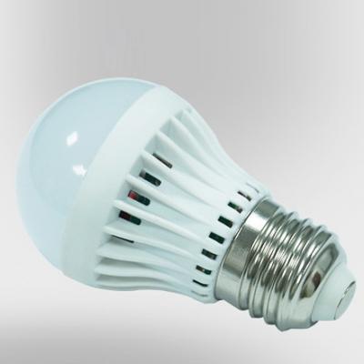 LED Globe Bulb 220V 180°SMD2835 PC Cool White  E27 3W