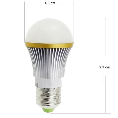 100000 Lifespan Ra80 3000K E27 4W 220V 400lm 12Leds Bulb
