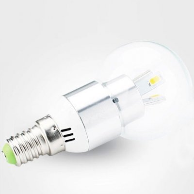 3Leds E14 LED Globe Bulb 3W Warm White