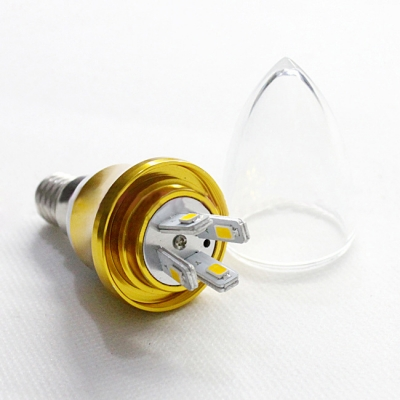 10Pcs E14-5730 AC85-265V 4W LED Candle Bulb
