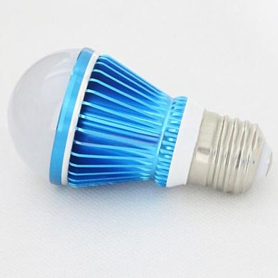 10Pcs Sky Blue 300lm E27 5W  Warm White Light