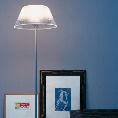 """Transparent Floor Lamp Polycarbonate Interior 51.18""""High"""
