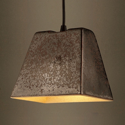 5'' Wide Rustic Black 1  Light Pendant Light