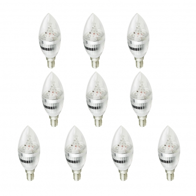 10Pcs E14 Bulb 3W 180°240lm 6LED-5730SMD Warm White