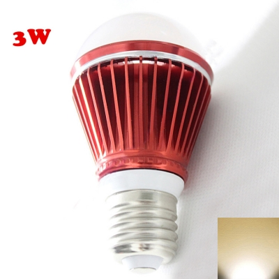 Red 300lm E27 3W  Warm White Light