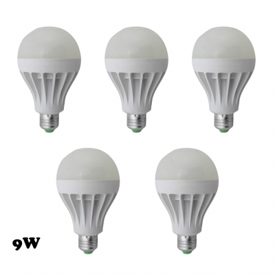 350lm Cool White 9W 5Pcs E27 5730SMD LED Globe Bulb