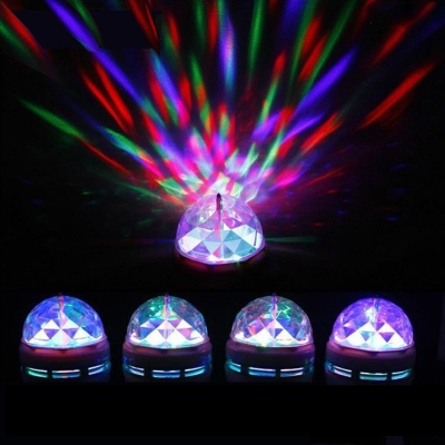 5Pcs RGB Colorful 220V E27 3W Mini LED Ball Bulb