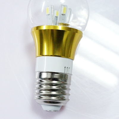 6000K E27 3W 300lm 85-265V  Mini LED Ball Bulb  in Gold Fiinish