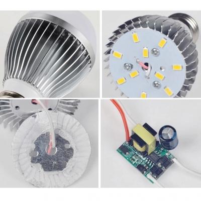 E27 5W 220V Warm White  LED Globe Bulb