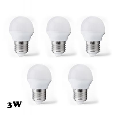 LED Globe Bulbs E27 3W Cool White Light(5 Pcs )