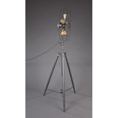 Five-light Industrial Whimsical Iron Fan Large Floor Lamp ...