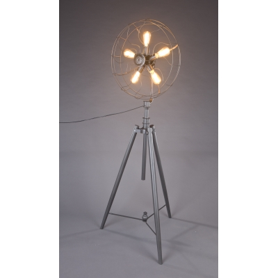 Five light industrial whimsical iron fan large led floor lamp five light industrial whimsical iron fan large led floor lamp mozeypictures Gallery