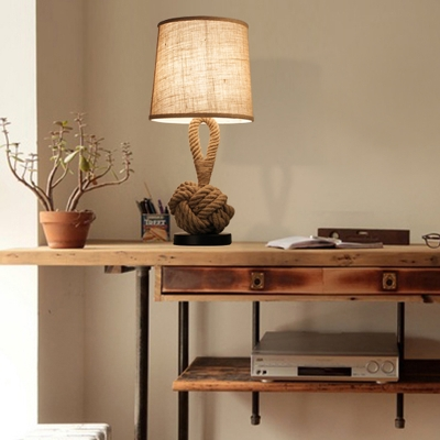 Industrial Fashion Linen Base LED Table Lamp Exclusive Sale