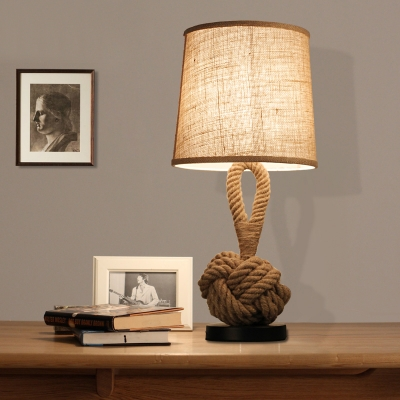 Industrial fashion linen base led table lamp exclusive sale mozeypictures Gallery