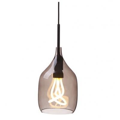 Straight Incision Industrial Pendant Light in Orange/Grey